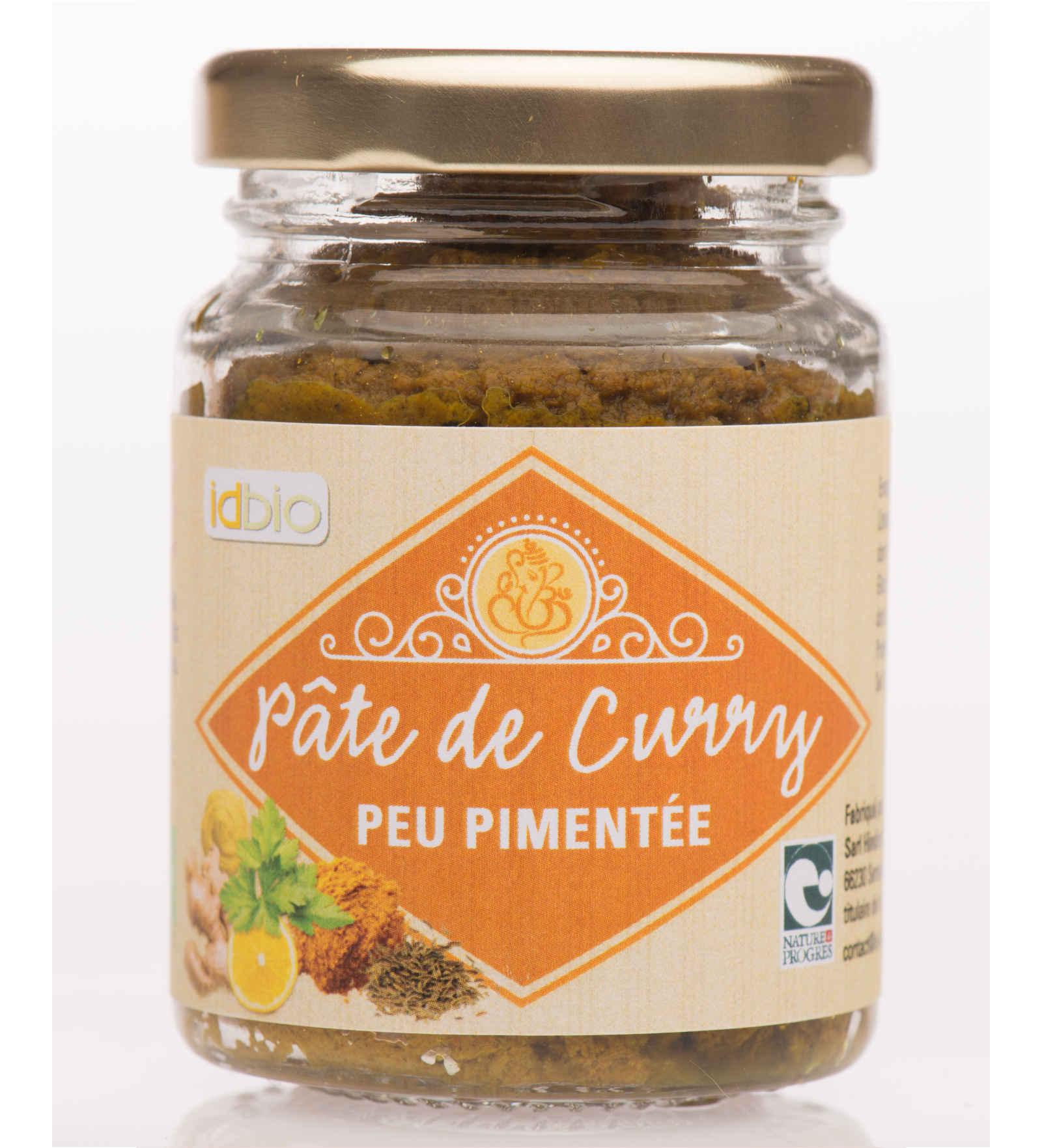 Pate de Curry peu pimentee-bio